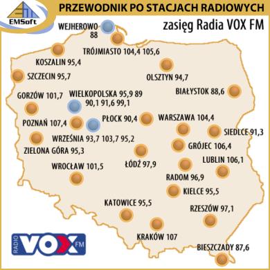 Radio VOX FM - częstoliwości, program, historia - EMSoft